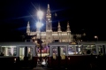 Vienna City Hall and Tram to Prater at night