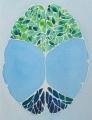 Root and Leaf Brain original watercolor painting, https://www.etsy.com/nl/shop/artologica?ref=l2-shopheader-name